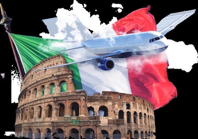 С приездом в италию
